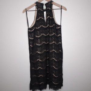 Dresses & Skirts - Black and cream halter lace dress